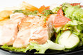 Free Stake From A Salmon With Vegetables Royalty Free Stock Photography - 5776787