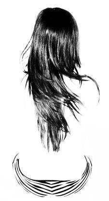 Beautiful Shiny Haired Woman Stock Photography