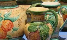 Free Colourful Ceramics On The French Riviera Stock Images - 5770714