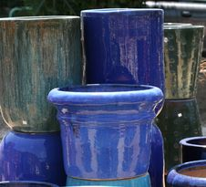 Colourful Ceramics On The French Riviera Stock Images