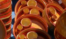 Colourful Ceramics On The French Riviera Royalty Free Stock Photo