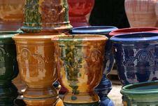 Free Colourful Ceramics On The French Riviera Stock Images - 5770914
