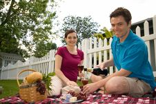 Free Couple On A Picnic-Horizontal Stock Images - 5770964