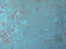 Free Blue Paint Peeling Off Royalty Free Stock Photography - 5771287