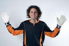 Free Goalie Smiling-Horizontal Royalty Free Stock Photos - 5771298