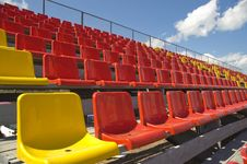 Free Lines Of Color Seats. Stock Photo - 5771300