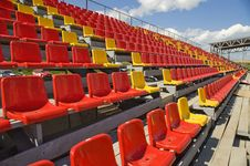 Free Lines Of Color Seats. Royalty Free Stock Photo - 5771305