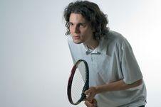 Free Man Playing Tennis - Horizontal Royalty Free Stock Photo - 5771425
