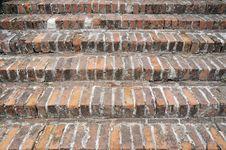 Brick Stairs Royalty Free Stock Photo