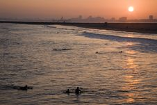 Free Sunset At Seal Beach Royalty Free Stock Photos - 5772338