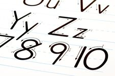 Free Learning Letters Chart Stock Photo - 5774230