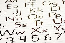 Free Learning Letters Chart Stock Photography - 5774232
