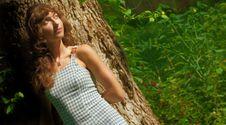 Free Lounging Woman Royalty Free Stock Image - 5774286