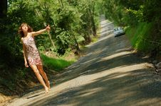 Free Pretty Hitch Hiker Royalty Free Stock Image - 5774296