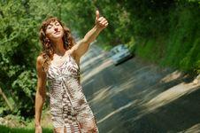 Free Pretty Hitch Hiker Stock Image - 5774301