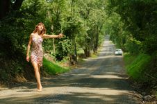 Free Pretty Hitch Hiker Royalty Free Stock Image - 5774336