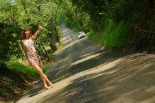 Free Pretty Hitch Hiker Stock Image - 5774341