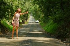Free Pretty Hitch Hiker Royalty Free Stock Image - 5774346