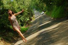Free Pretty Hitch Hiker Stock Image - 5774351