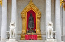 Free Thailand Bangkok The Marble Temple Stock Image - 5774861