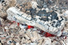 Coal From A Burned Firewood Royalty Free Stock Photography
