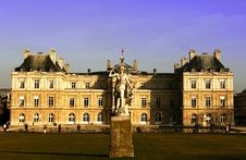 France, Paris: Luxembourg Garden,Senate House Stock Photo