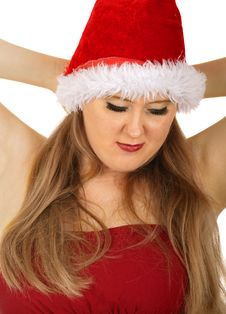 Beauty Mrs Santa Royalty Free Stock Image