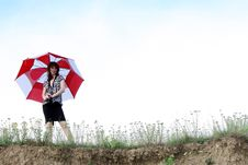 Free Umbrella Girl Royalty Free Stock Photography - 5775747