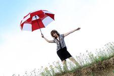 Free Umbrella Girl Royalty Free Stock Photo - 5775755