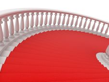 Free Red Stair Stock Photography - 5776412