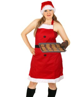 Free Mrs Santa Bake Cookies Stock Photography - 5776632