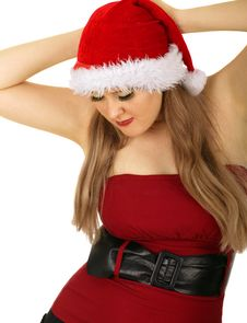 Free Mrs Santa Pose 2 Royalty Free Stock Photo - 5776805