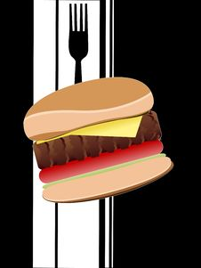 Free Cheese Burger Royalty Free Stock Photography - 5776907