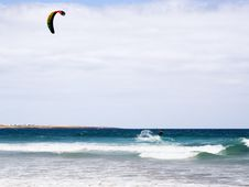 Free Kite-surfing At Lanzarote Coast Stock Photos - 5778143