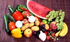Free Vegetables And Fruits Royalty Free Stock Image - 5778156