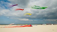 Free Colored Kites At The Beach Stock Photography - 5779252