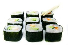 Free Set Of Sushi And Chopsticks Royalty Free Stock Images - 5779299