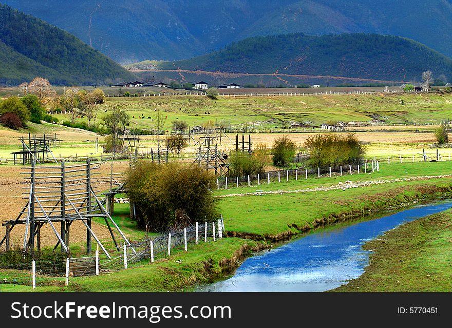 Tibetan farm