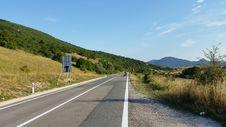 Croatia Udbina Old Road D1 Stock Photo