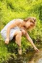 Free Girl At River Royalty Free Stock Photos - 5784088