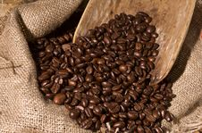 Free Coffee-beans In Sack Royalty Free Stock Photos - 5780828