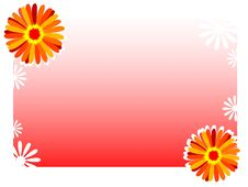Free Flower On Gradient Background Royalty Free Stock Images - 5782419