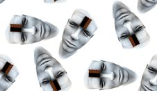 Many Open Heads Tile Pattern Background 5 Royalty Free Stock Image