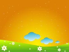 Clouds And Stars Royalty Free Stock Images