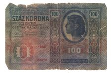 Old Hungarian Banknote Royalty Free Stock Photography