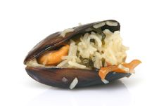 Free Mussel With Rice Closeup Stock Photography - 5782922