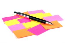 Free Empty Post-it  And Pen Stock Images - 5783004