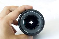 Free Lens Held By Hand Stock Photo - 5783410