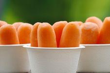 Organic Peeled Carrots Royalty Free Stock Photo