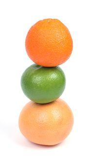 Free Citrus Pyramid Made Of Orange, Grapefruit Stock Photography - 5787512